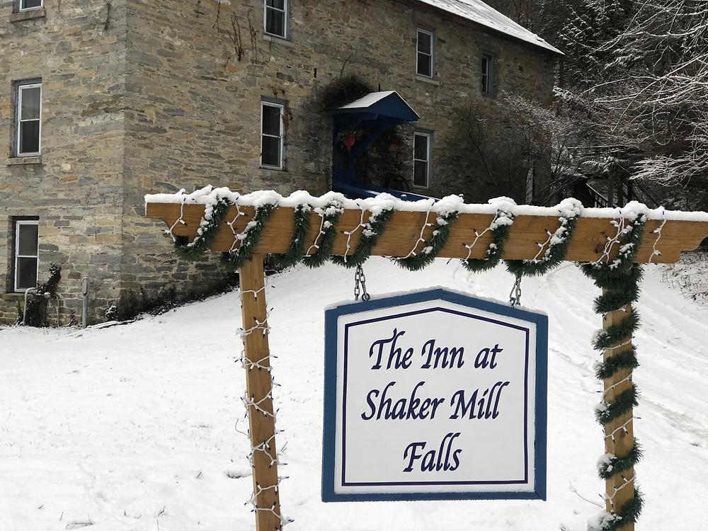 The Inn at Shaker Mill Falls winter