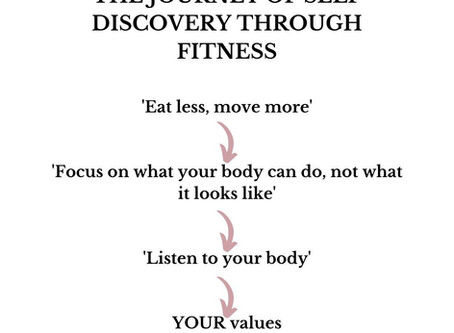 The journey of self discovery through fitness