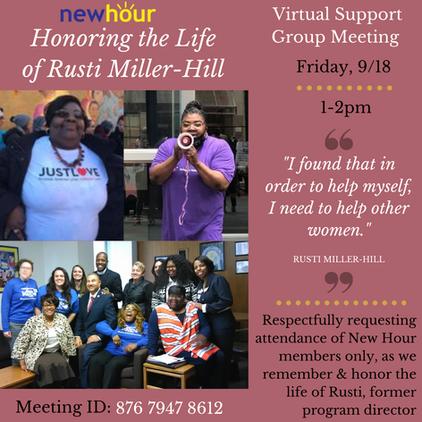 Honoring Rusti_ Virtual Support Group me