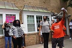 Racial justice advocates want Kaminsky to reinvest 'cop money'