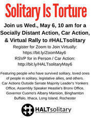 May 6 #HALTsolitary In Person Car & Virt