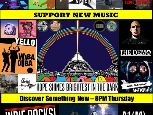 New Music Radio Show, A1M picks Top 20 new Indie artists- for Glastonbury 50th Anniversary