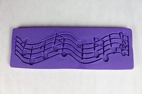 Tapete de silicone notas musicais