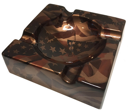Cigar Ashtray Custom Copper Metallic American Flags Legion Of Ash Designer Serie