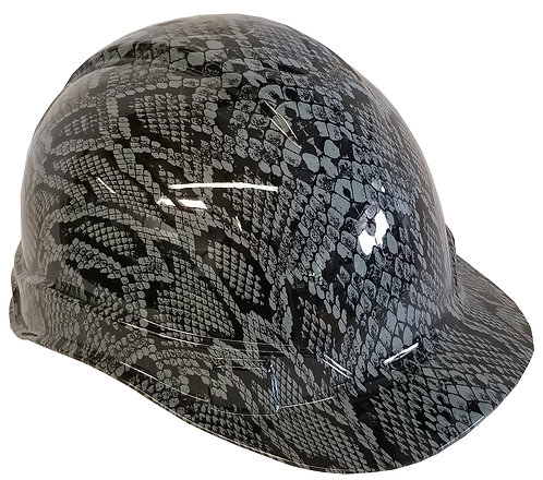 Light Grey Snakeskin Hard Hat