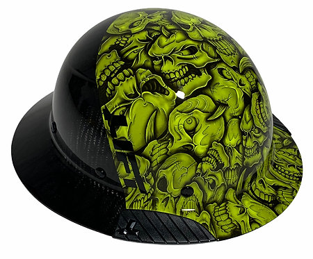 Black and Green Insanity Skulls Lift DAX Fifty 50 HDF50C-19H