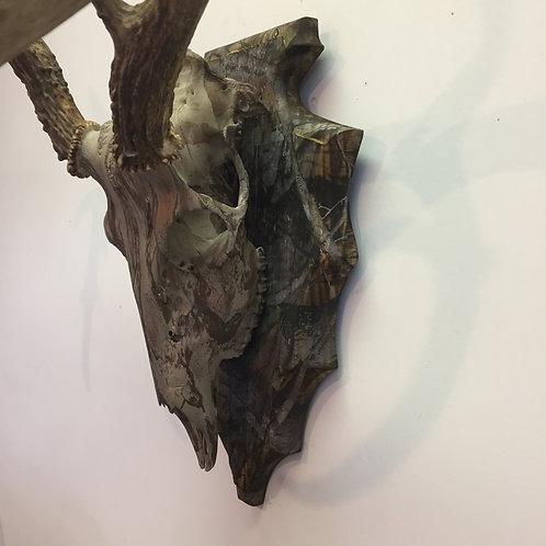 Camo Weather Worn Barn Wood Aarow Head Wall Plaque