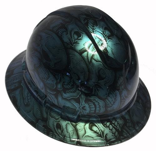 Full Brim Blue/Green Cameleon Insanity Skulls