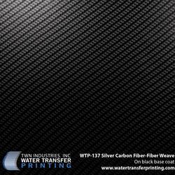 WTP-137 Silver Carbon Fiber-Fiber Weave