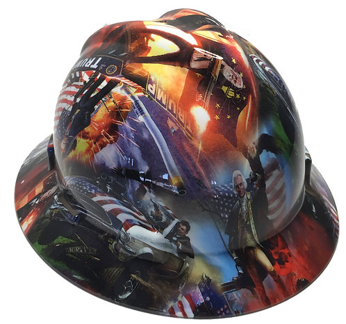 Trump High Gloss MSA V-Gard Full Brim