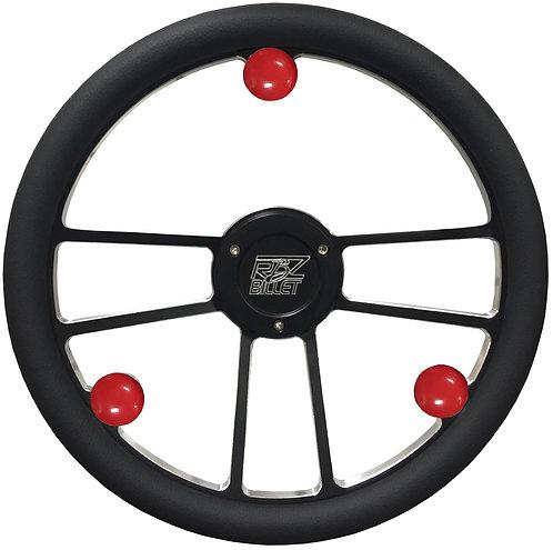 Custom RBZ Billet Racing Steering Wheel Custom 2 With 3 Buttons Pt 2