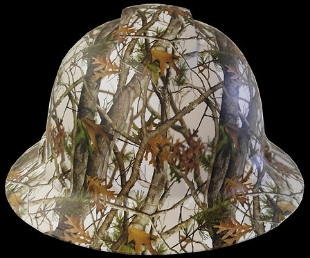 Matte White Vista Camo WTP845 Full Brim Hard Hat