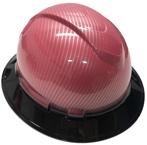 Custom Hydro Dipped Light Pink Carbon Fiber W/ Black Brim Ridgeline Full Brim