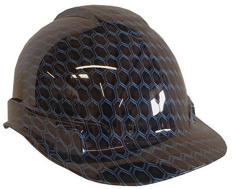 Light Blue Honeycomb Hard Hat