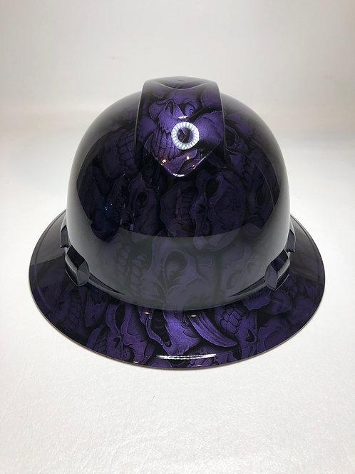 Full Brim Plum Crazy Purple Insanity Skulls
