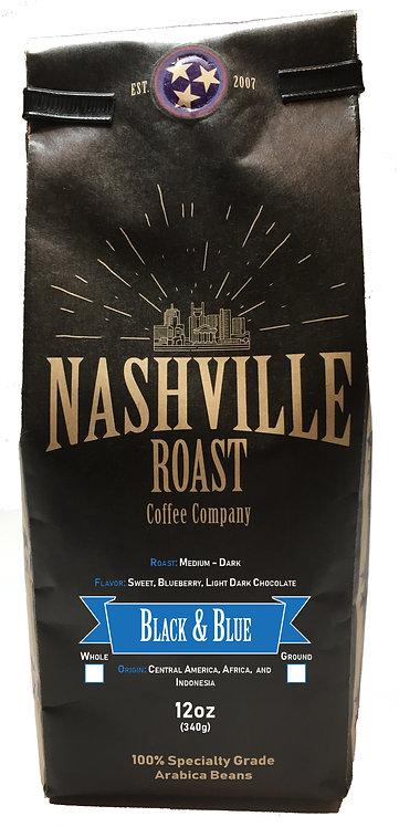 Nashville Roast Coffee Company Black And Blue, Ground, 12 Oz Bag