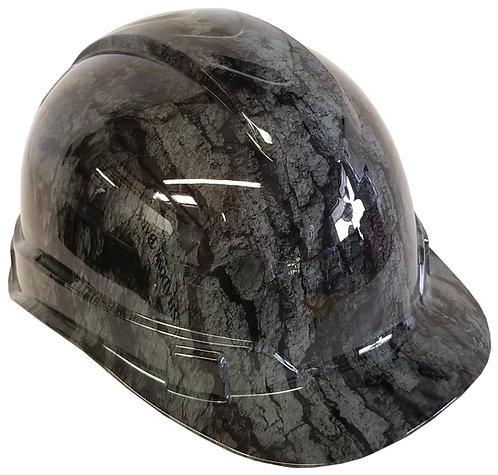 Light Grey Shadow Bark Hard Hat