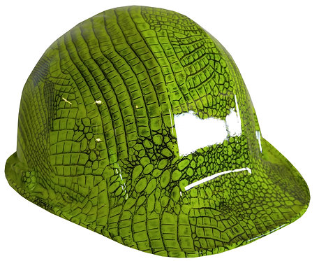 Hi Vis Greesn SL Series Snakeskin Hard Hat