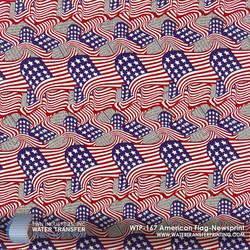 WTP-167 American Flag-Newsprint
