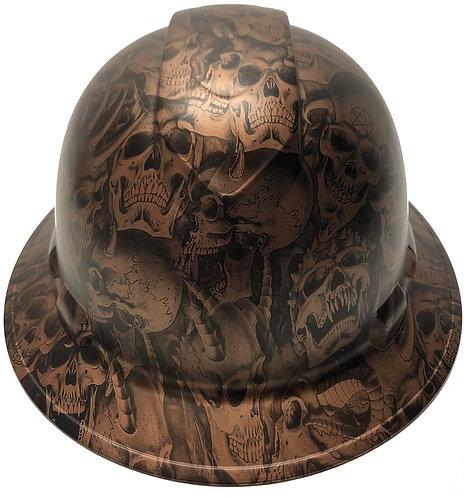 Copper Metallic Demented Skulls Satin Ridgeline Full Brim