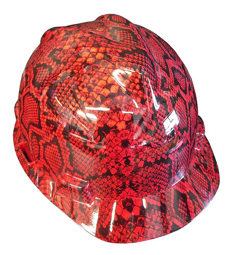 MSA V Guard Cap Style Red Snakeskin