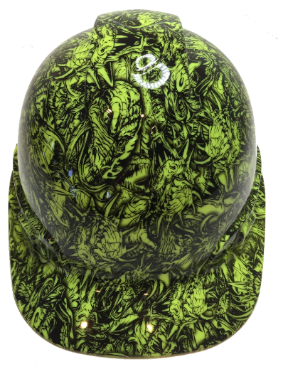 copy of Hi Vis Green Ace Of Skulls Satin Ridgeline Cap Style