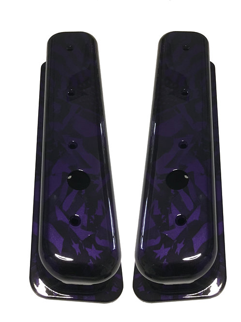 Small Block Chevy Hydo Dipped Plum Crazy Purple Midnight Flag Valve Cover 6870G