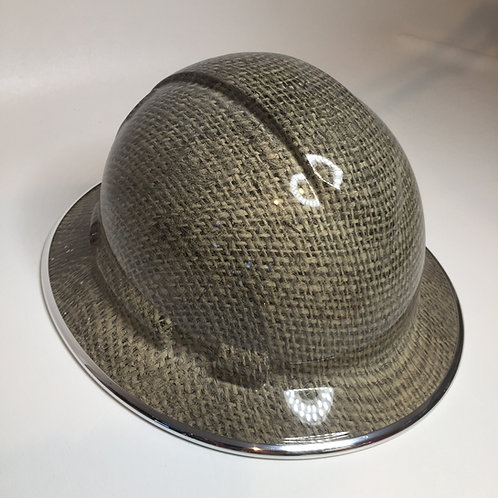 Full Brim Burlap W/ Chrome EdgeGuard