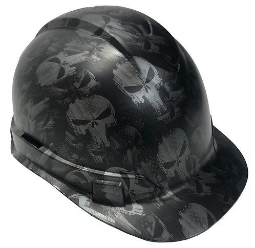 Metallic Graphite Punisher Satin Ridgeline Cap Style