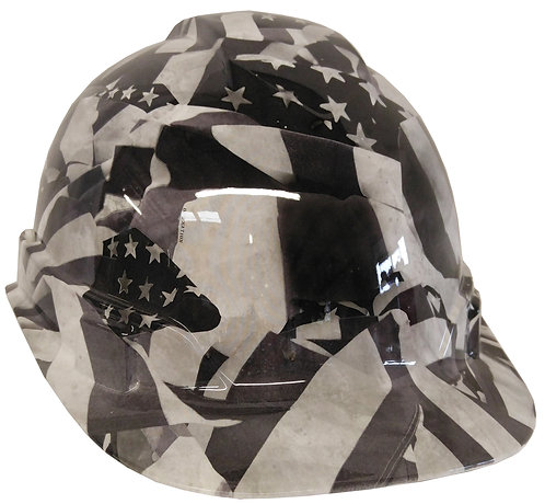 White American Flag Hard Hat
