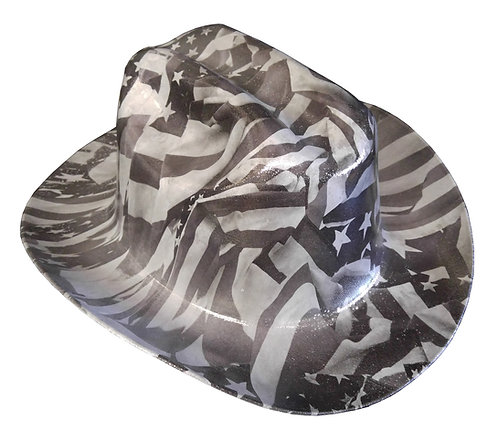 Hard Hat Kimberly Clark Outlaw Grey American Flags