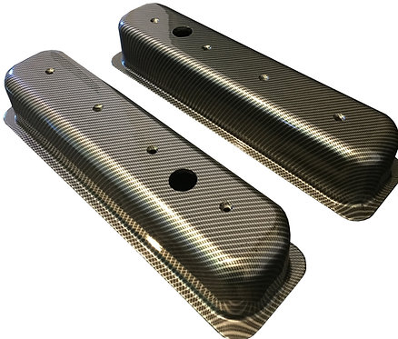 Small Block Chevy Hydo Dipped Carbon Fiber Valve Cover 6870G