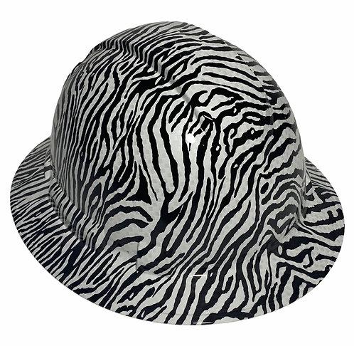 Zebra Print Full Brim Hard Hat