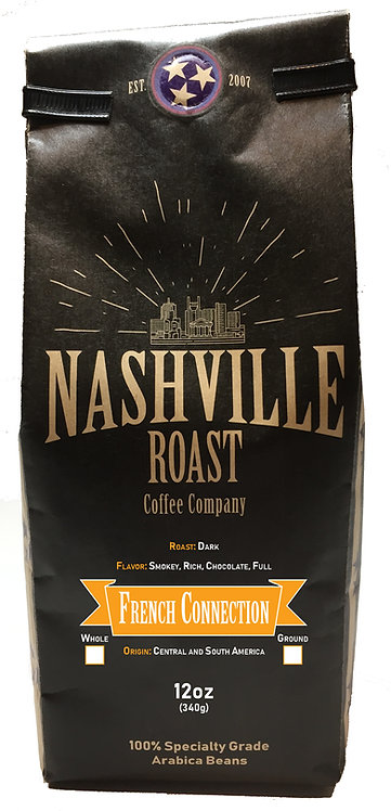 Nashville Roast Coffee Company French Connection, Ground, 12 Oz Bag