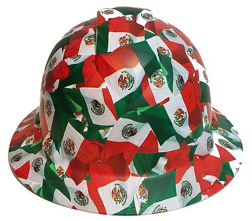 Mexico Flags Satin RIdgeline Full Brim