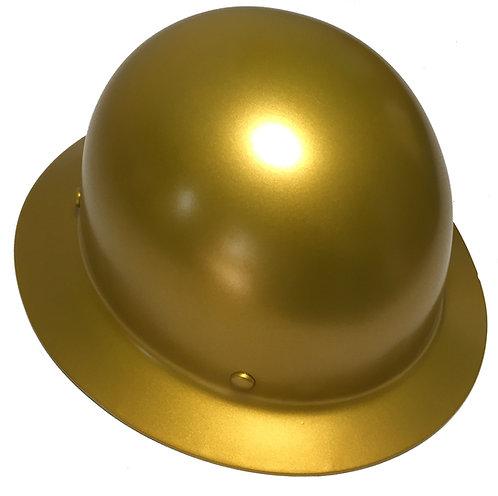 Hard Hat MSA Skullgard Full Brim Custom HOK Gold Satin