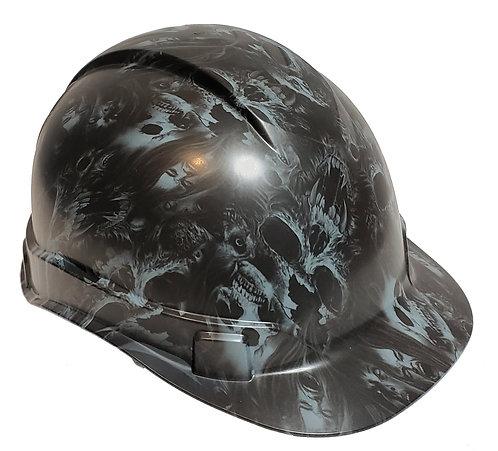 Slate Gray Soul Searcher Skulls Satin Ridgeline Cap Style