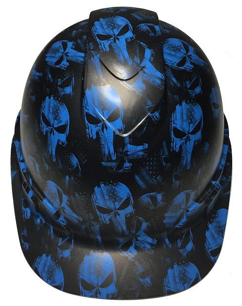 Cap Style Light Blue Punisher Satin