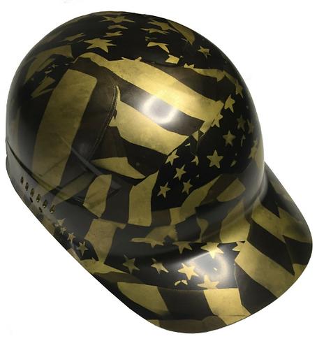 Metallic Gold Midnight Flags Bump Cap