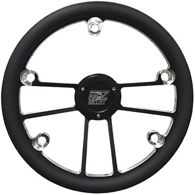 Custom RBZ Billet Racing Steering Wheel Custom 2 With 5 Button Holes