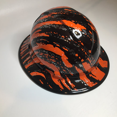 Full Brim Orange Marble Splash W/ Black EdgeGuard