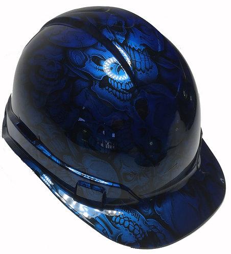 Speedway Blue Insanity Skulls Ridgeline Cap Style