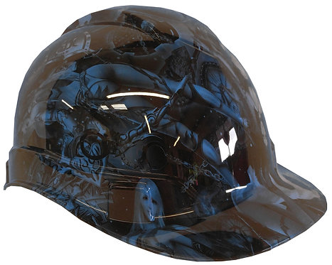 Light Blue Fantasy World Hard Hat