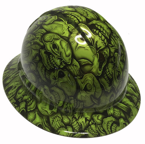 Full Brim Sublime Green Insanity Skulls