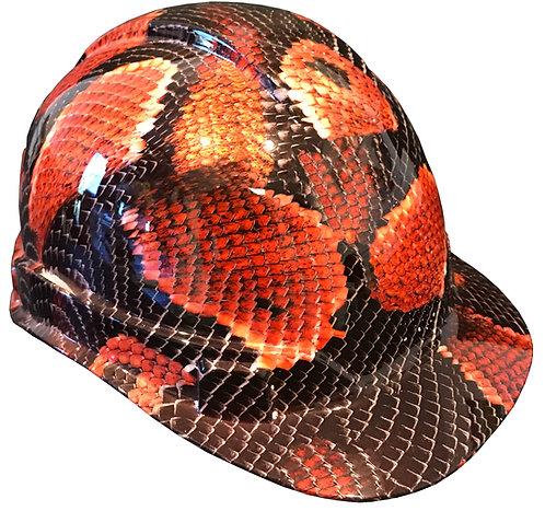 Snake Skin Red Boa Hard Hat