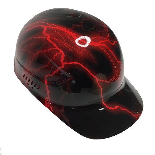 Red Lightning Bump Cap High Gloss