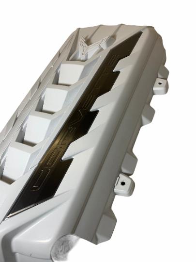 Custom Hydro Dipped 2020+ Corvette Engine Cover  White