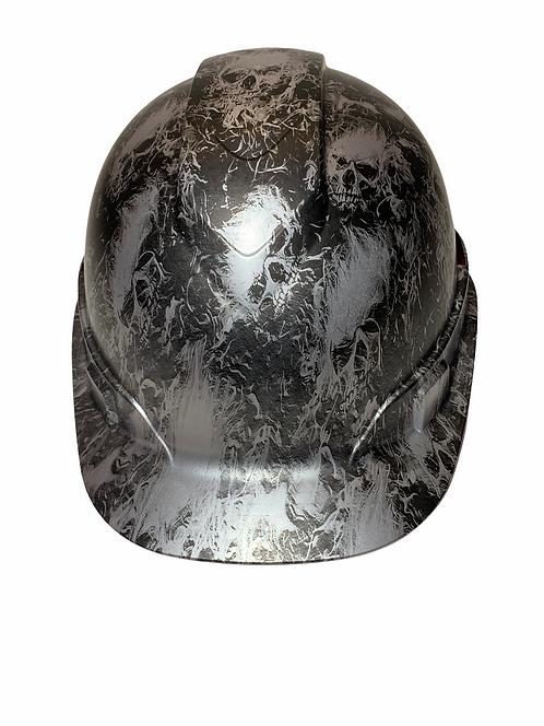 Ridgeline Cap Style Silver Metallic Flaming Skulls