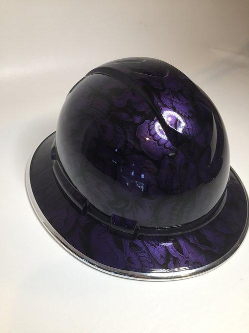 Full Brim Plum Crazy Purple Insanity Skulls W/ Chrome EdgeGuard