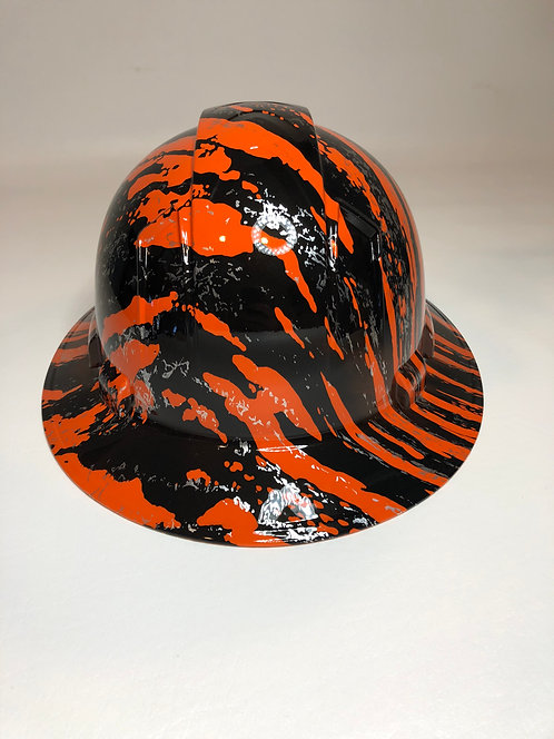 Full Brim Orange Marble Splash